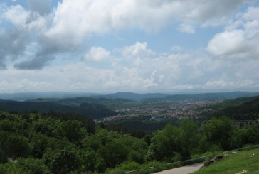 View in the distance Veliko Tarnovo